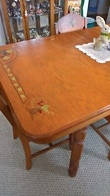 Antique Table with 6 Chairs