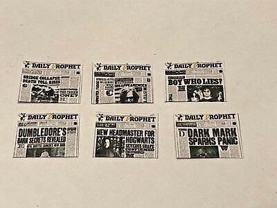 X6 Harry Potter Style Daily Prophets  For A 1/12 Scale Dolls House
