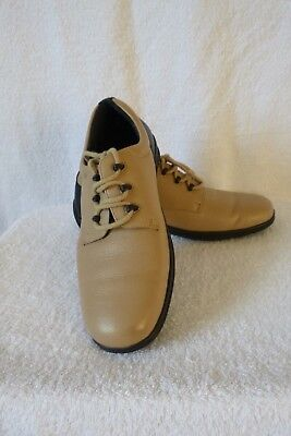 Ladies Beige Leather Leisure/trainer Shoes 'padders' + Sz 6 + X.cond+ Wider Fit