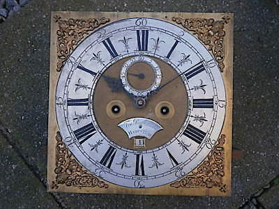 C1740 8day LONGCASE GRANDFATHER CLOCK DIAL+movement 12X12  WI OF