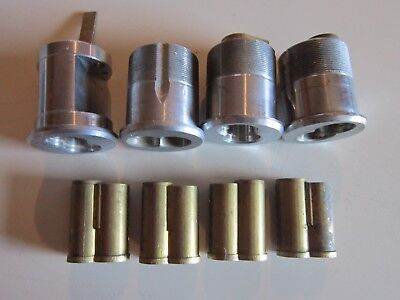 4 Vintage Best 7-pin Mortise cylinders and 4 7-pin cores