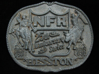 Nh09137 Vintage 1983 **National Finals Rodeo 25Th Anniversary** Hesston Buckle
