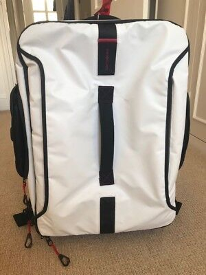 9bc26c5f9a81 Samsonite Paradiver Light Duffle Backpack with wheels 55cm - White Used once