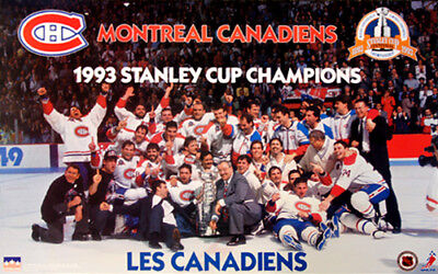Montreal Canadiens 1993 Stanley Cup Champions On-Ice Celebration Original POSTER