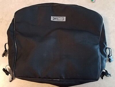 "Ski-Doo Sno Gear Black Nylon Zippered Bag 18""x18""x6"" Used"