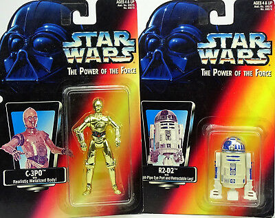 C-3Po & R2-D2 Droid Für Auspacker Star Wars Power Of The Force Collection Hasbro