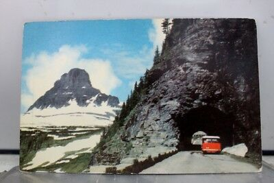 Montana MT Glacier National Park Going to the Sun Highway Mt Clements Postcard