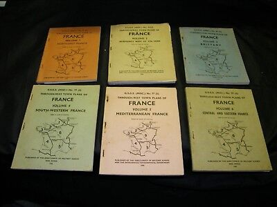 lot guide michelin 1944 debarquement WW2 G.S.G.S through way town plan of france