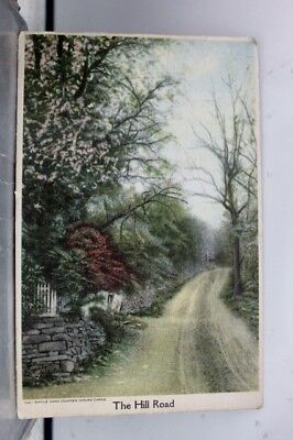 Art Hill Road Hand Colored Nature Postcard Old Vintage Card View Standard Post