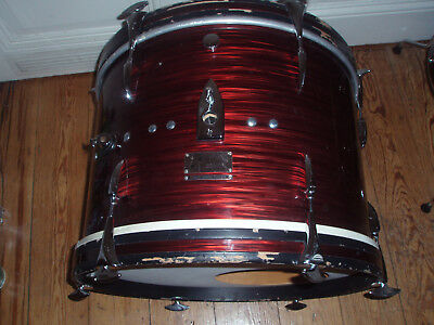 "20"" Sonor Teardrop BD Bass Drum,Red Ripple,Slate,Pearlmut,Vintage Schlagzeug"