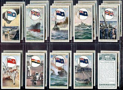 Tobacco Card Set, WD & HO Wills, FLAGS OF THE EMPIRE, Military, 2nd Series, 1929