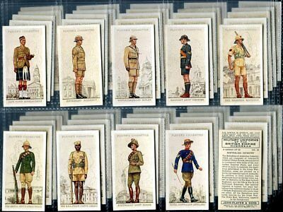 Tobacco Card Set, John Player & Sons, MILITARY OVERSEAS UNIFORM,BRITISH, 1938