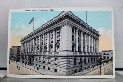 Maryland MD Baltimore Custom House Postcard Old Vintage Card View Standard Post