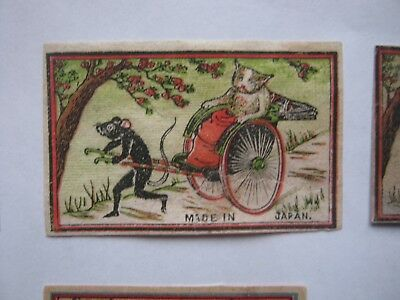 Old Japanese Cat Matchbox Label.design 2.