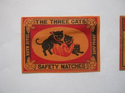 Old Japanese Cat Matchbox Label.design 10.
