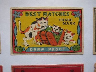 Old Japanese Cat Matchbox Label.design 11.