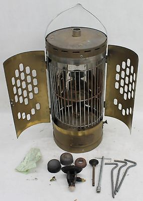 NAUTICALIA The Hebrides Brass Stainless Steel Paraffin Cabin Heater & Stove