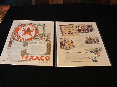 vintage Texaco advertising (6) 1930's    fire-chief     havoline