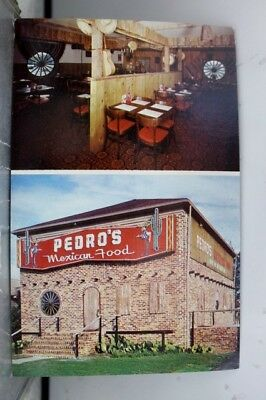 South Carolina SC Myrtle Beach Pedro Mexican Restaurant Postcard Old Vintage PC