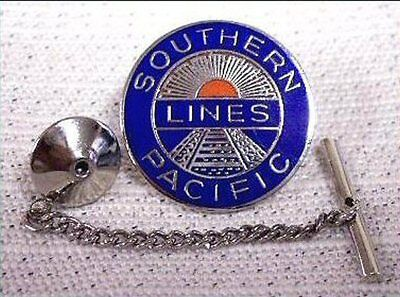 Southern Pacific Lines Railroad Tie Tack with Chain Clasp