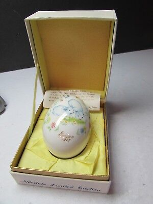 Vintage Noritake Easter Egg In Original Box Dated 1977