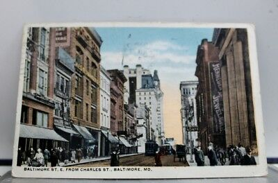 Maryland MD Baltimore Charles Street Postcard Old Vintage Card View Standard PC