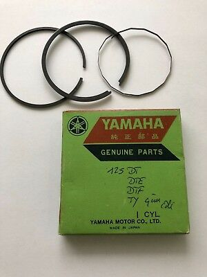 Yamaha 125 DT / DTE / 125 DTF / TY 125, segments neufs / NOS piston rings