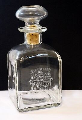 Vintage William Grant & Sons Ltd Glenfiddich Glass Whisky Decanter with Stopper