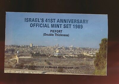 Israel - Piedfort Proof Set 1989 - Double Thickness Coins