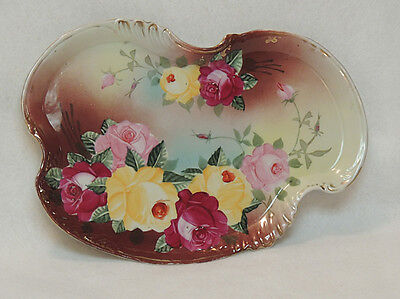 Victorian Royal Kinran Nippon Antique Porcelain Dresser Vanity Tray Hand Painted