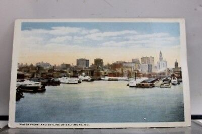 Maryland MD Baltimore Water Front Skyline Postcard Old Vintage Card View Post PC