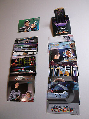 62+ Vintage Star Trek & Voyager Trading Collector Cards 1990's Mixed Lot Nice