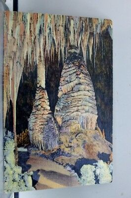 New Mexico NM Carlsbad Caverns Stalagmites Sun Temple Postcard Old Vintage Card