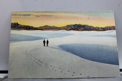 New Mexico NM Alamogordo Great White Sands National Monument Postcard Old View