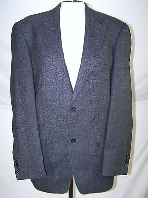 Gianfranco Ruffini Italy Black Gray Long Sleeve Two Button Blazer Mens Size 42 L