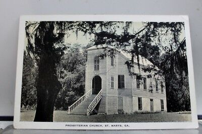 Georgia GA St Marys Presbyterian Church Postcard Old Vintage Card View Standard