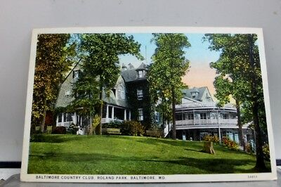 Maryland MD Baltimore Roland Park Country Club Postcard Old Vintage Card View PC