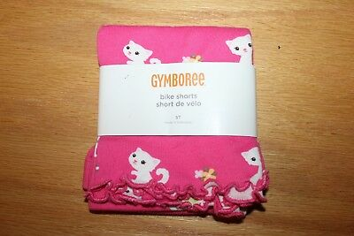NWT Gymboree Tea Time Afternoon size 5T Pink Kitty Bike Shorts