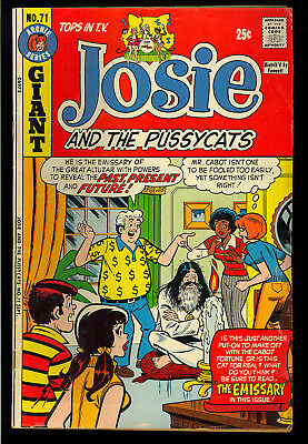 Josie and the Pussycats #71 thru 75 GROUP (5 Comics) Archie 1973 FN-