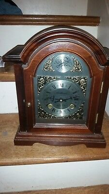 Vinrage Grandfather Mantle Clock Tempus Fugit 31 day chine