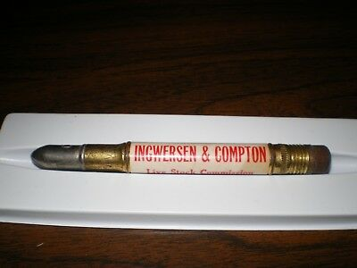 Ingwersen & Compton Livestock Commission Union Stock Yards Chicago Bullet Pencil