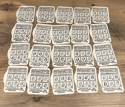 X20 Mcdonalds Tea/Coffee/Latte/Hot Chocolate/Flat White Tokens/Vouchers