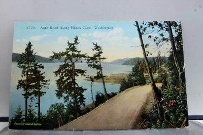 Washington WA Auto Road Hood Canal Postcard Old Vintage Card View Standard Post