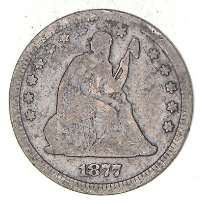 TOUGH - 1877-S Seated Liberty Quarter - Early US Type Coin - Historic *215
