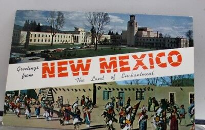 New Mexico NM Greetings Postcard Old Vintage Card View Standard Souvenir Postal