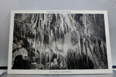 New Mexico NM Ice Chamber Carlsbad Caverns Postcard Old Vintage Card View Post