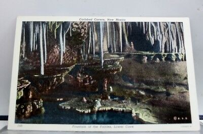 New Mexico NM Fountain of Fairies Carlsbad Caverns Postcard Old Vintage Card PC