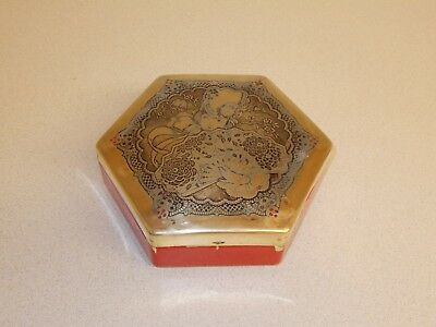 VINTAGE ANTIQUE 1920s ERA FULLY EMBOSSED SOLID BRASS ARTSTYLE CHOCOLATE CO. TIN