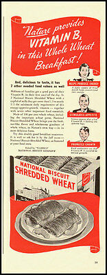 1947 cintage ad for National Biscuit Shredded Wheat Cereal  -031912