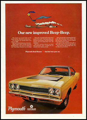 1969 vintage ad for Plymouth automobiles